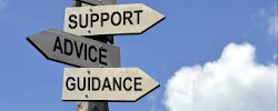 support, guidance, advice signpost